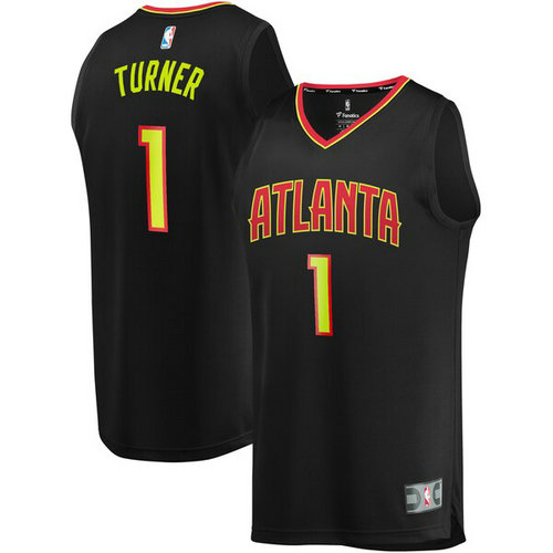 canotta basket Evan Turner 1 atlanta hawks nero
