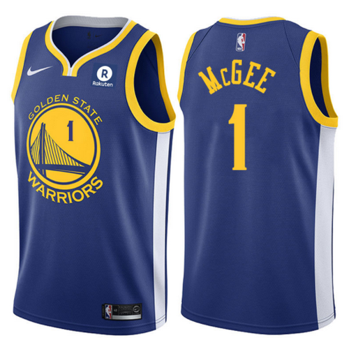 maglia JaVale McGee1 2017-2018 golden state warriors blu