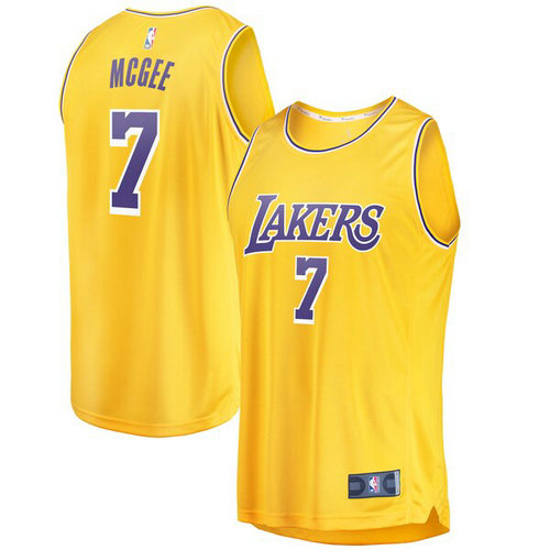 canotta JaVale McGee 7 2019 los angeles lakers giallo