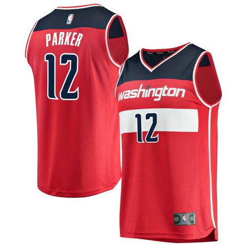 canotta Jabari Parker 12 2019 Washington Wizards rosso