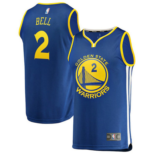 maglia Jordan Bell 2 2018-2019 golden state warriors blu
