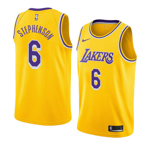 canotta Lance Stephenson 6 2019 los angeles lakers giallo