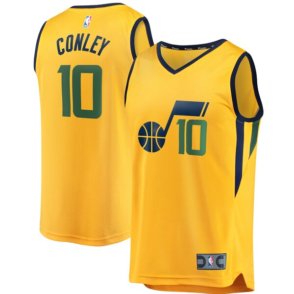 maglia nba mike conley 10 2020 utah jazz giallo