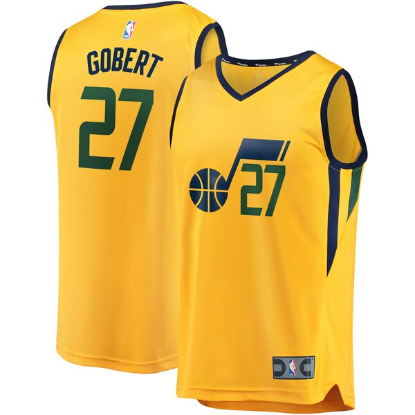 maglia nba rudy gobert 27 2020 utah jazz giallo