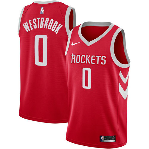 maglia Russell Westbrook 0 2019 houston rockets rosso