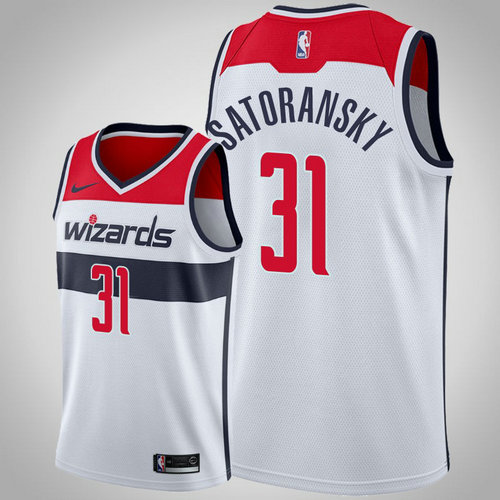 maglia nba Tomas Satoransky 31 2018-2019 washington wizards bianca