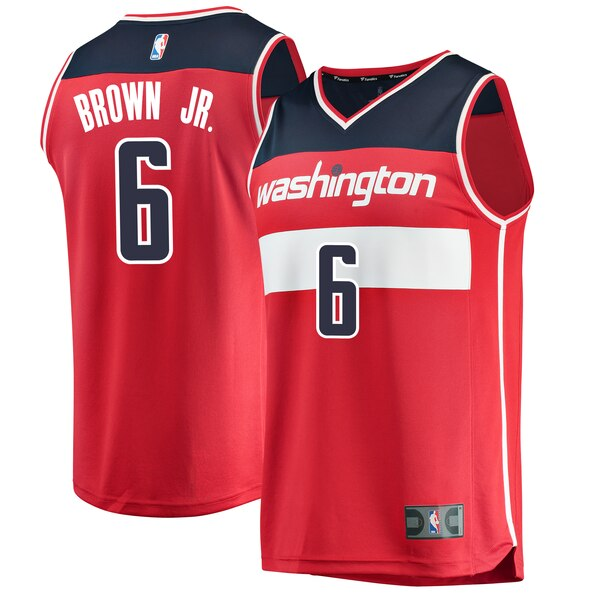 maglia nba Troy Brown 6 2020 washington wizards rosso