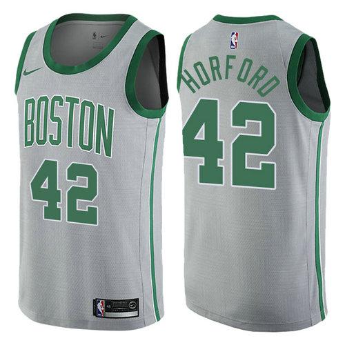 maglia basket al horford 42 2017-2018 boston celtics grigio