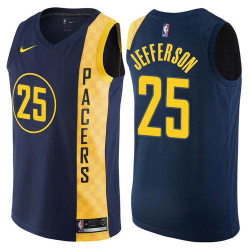 maglia basket al jefferson 25 2017-2018 indiana pacers navy