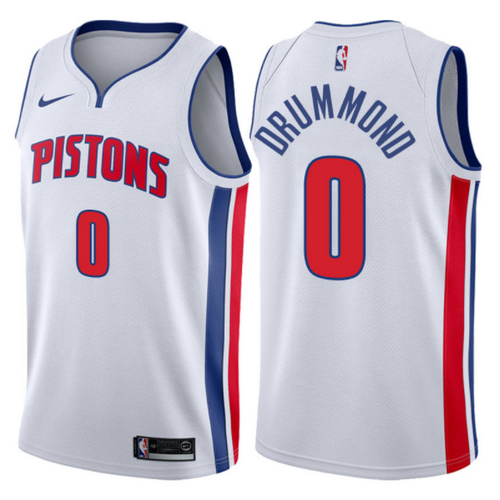 maglia andre drummond 0 2017-2018 detroit pistons bianca