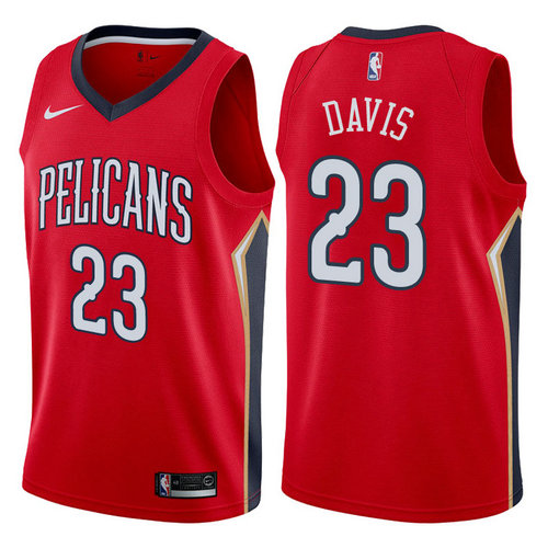 maglia anthony davis 23 2017-2018 new orleans pelicans rosso