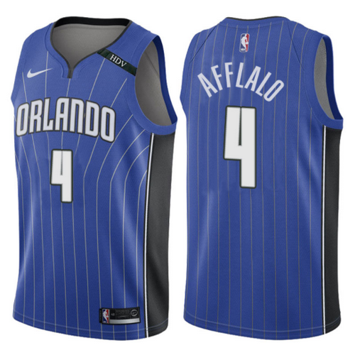 maglia arron afflalo 4 2017-2018 orlando magic blu