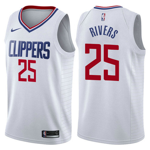 maglia austin rivers 25 2017-2018 los angeles clippers bianca