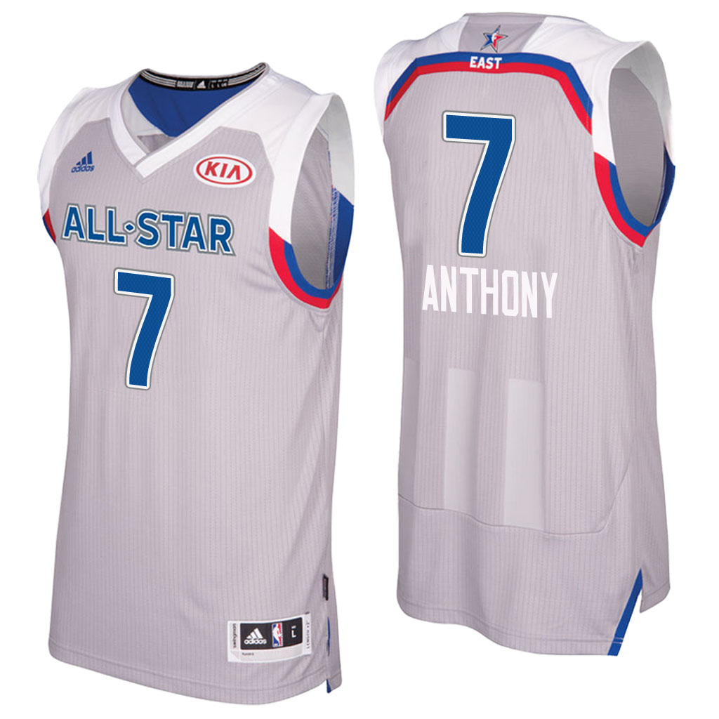 maglie basket carmelo anthony 7 nba all star 2017 grigio