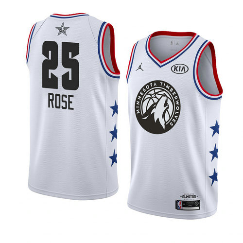 canotta basket Derrick Rose 25 nba all star 2019 Bianca