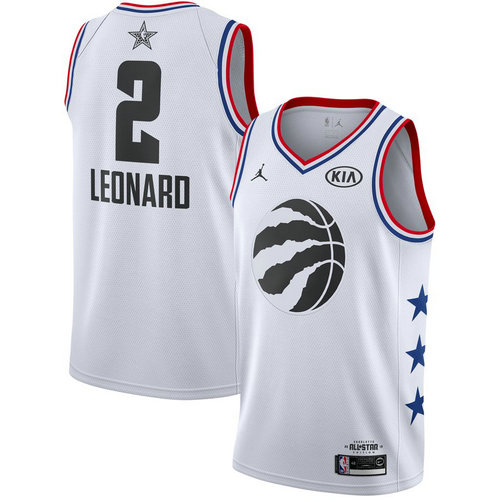 canotta basket Kawhi Leonard 2 nba all star 2019 bianca