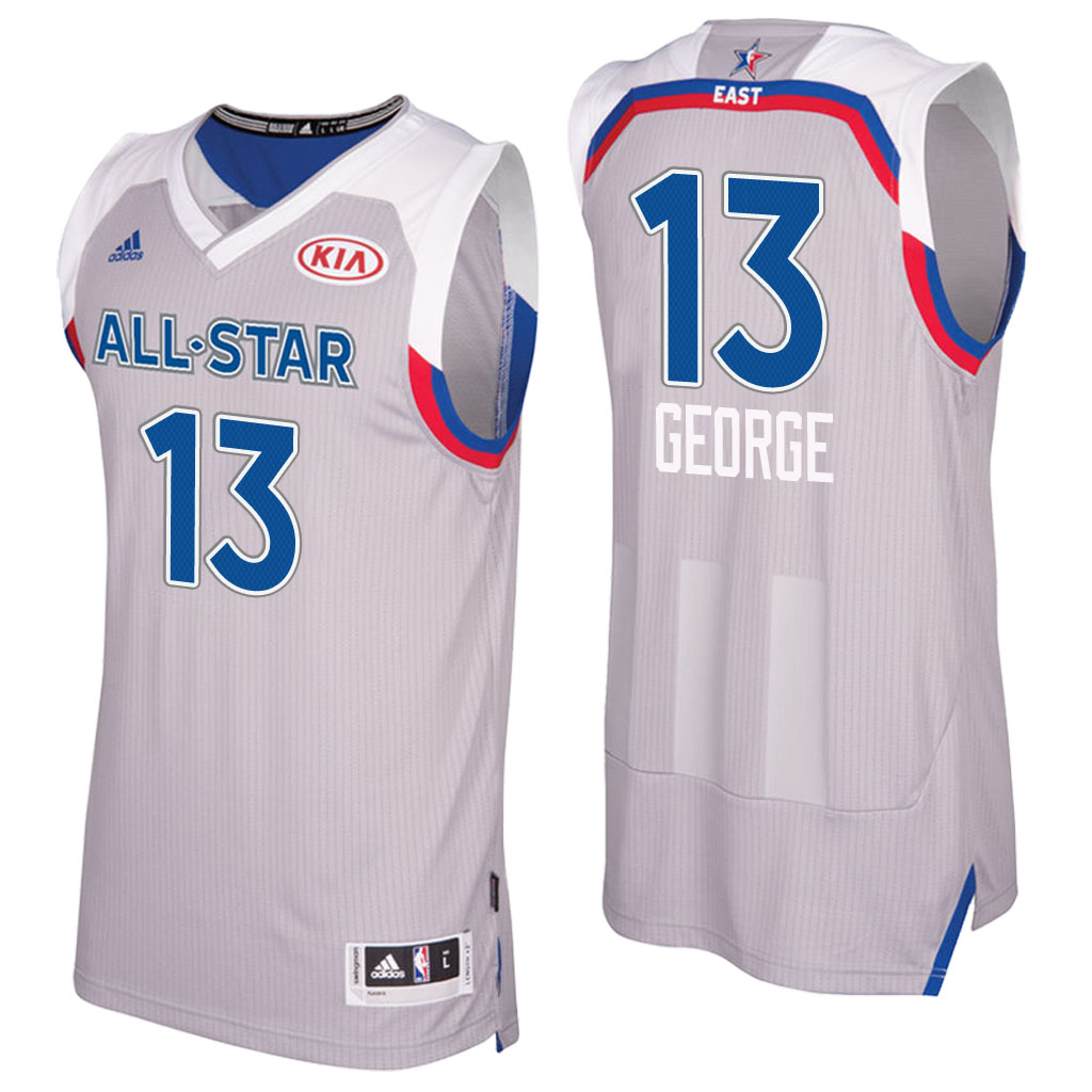 maglie basket paul george 13 nba all star 2017 grigio