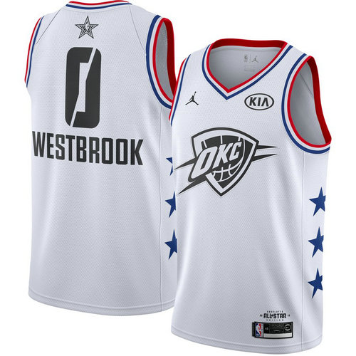 canotta basket Russell Westbrook 0 nba all star 2019 bianca