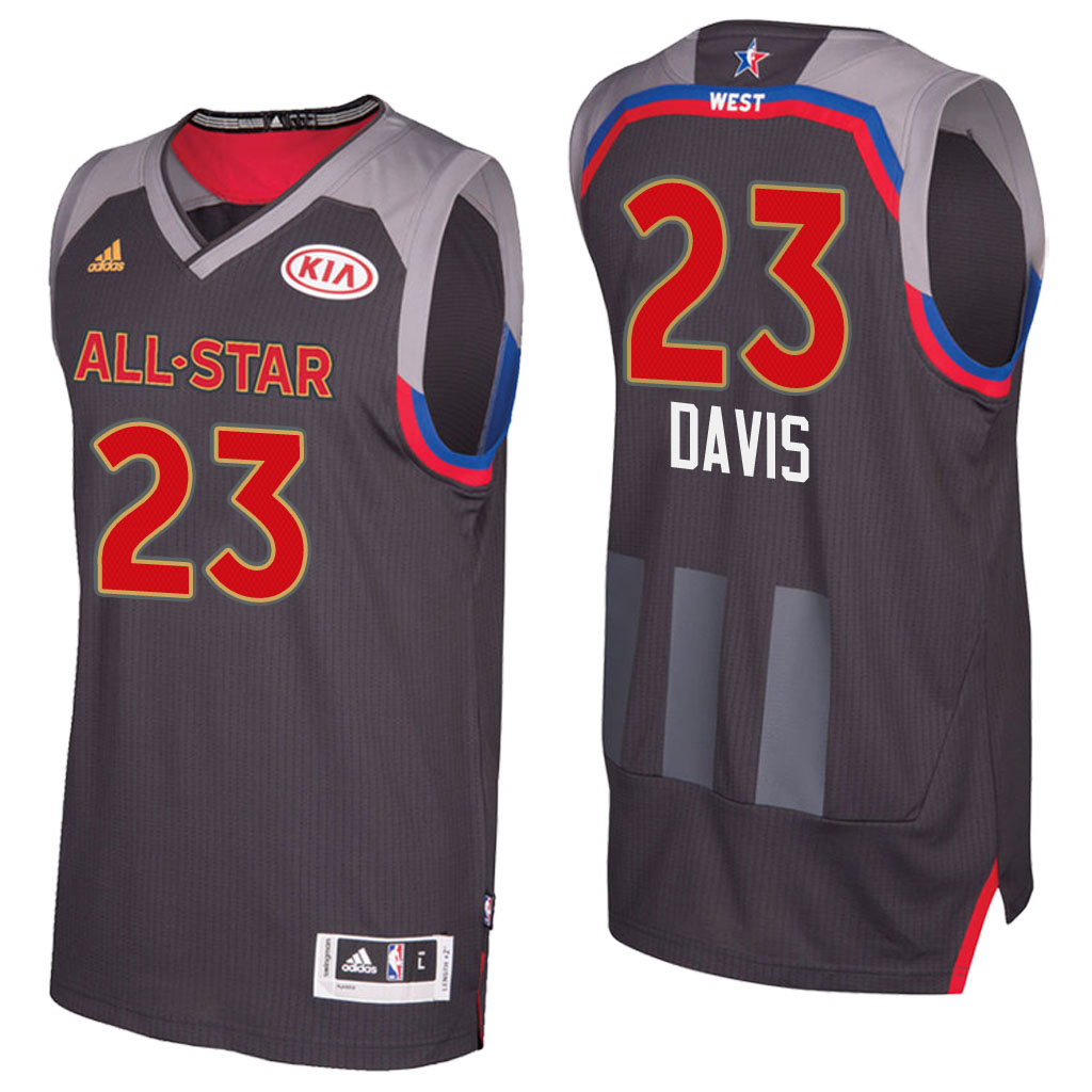 canotta basket anthony davis 23 nba all star 2017 marrone