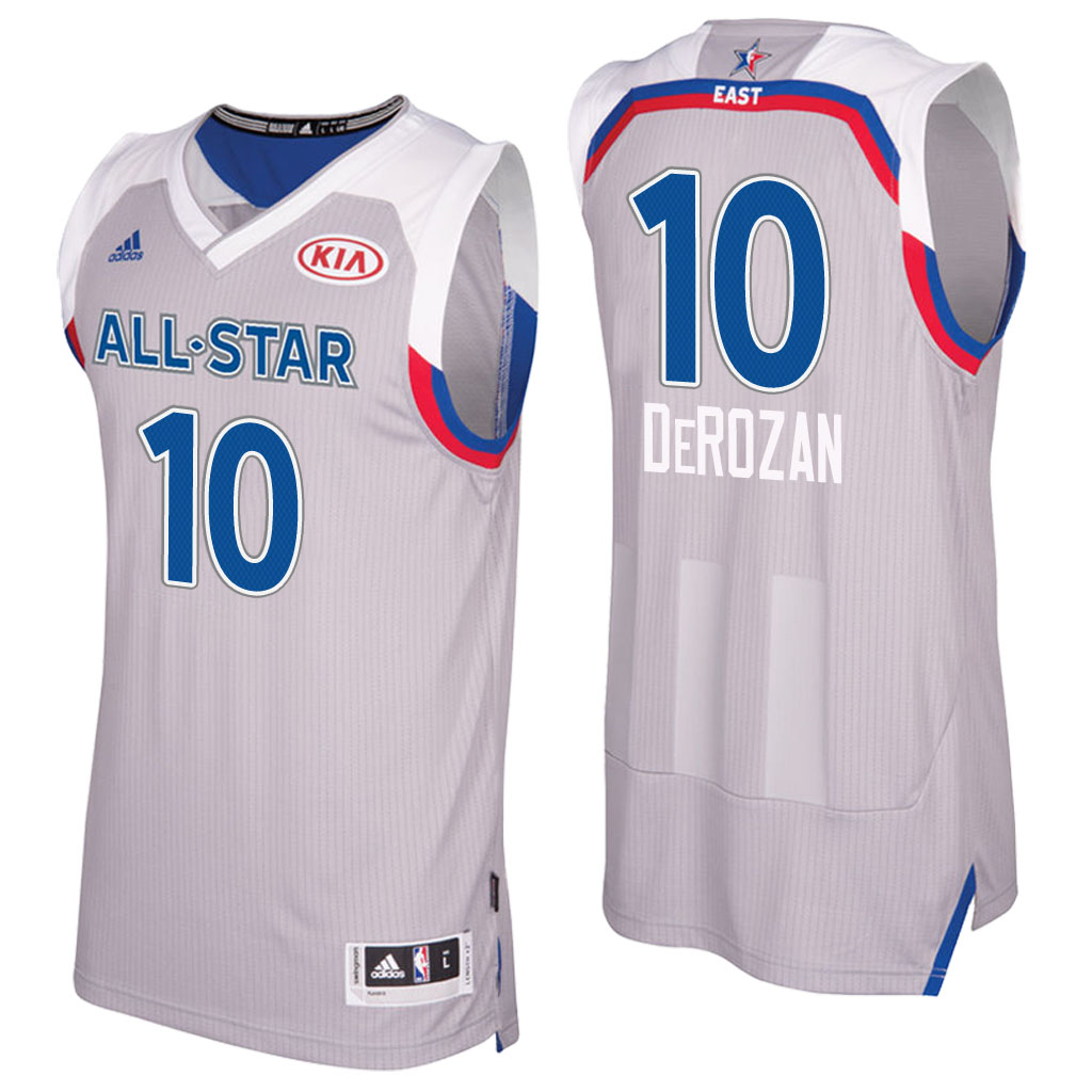 maglie basket demar derozan 10 nba all star 2017 grigio