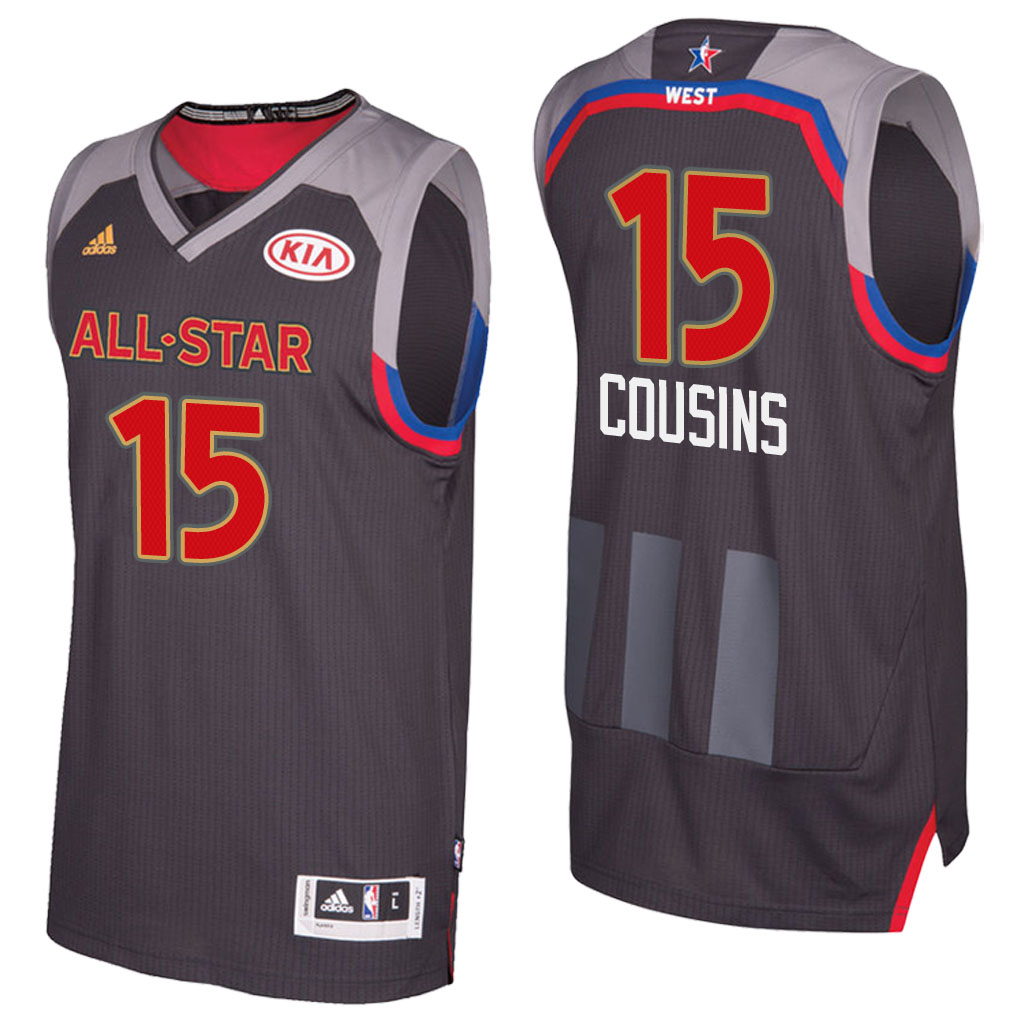 canotta basket demarcus cousins 15 nba all star 2017 marrone