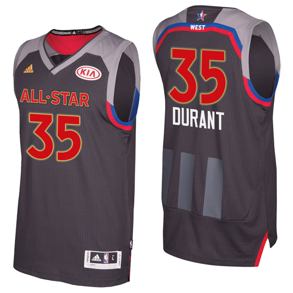 canotta basket kevin durant 35 nba all star 2017 marrone
