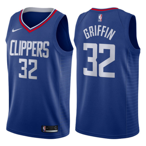 maglia blake griffin 32 2017-2018 los angeles clippers blu