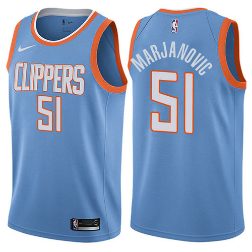 maglia boban marjanovic 51 2017-2018 los angeles clippers blu