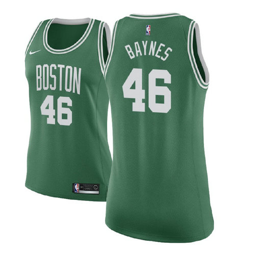 maglie nba donne aron baynes 46 2017-2018 boston celtics verde