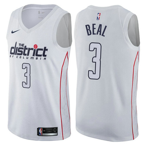 maglia nba bradley beal 3 2017-2018 washington wizards bianca