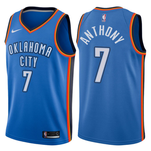 maglia carmelo anthony 7 2017-2018 oklahoma city thunder blu