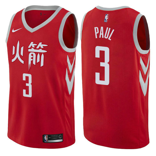 maglia chris paul 3 2017-2018 houston rockets rosso