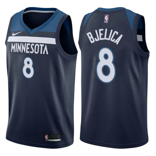 maglia cole aldrich 8 2017-2018 minnesota timberwolves navy