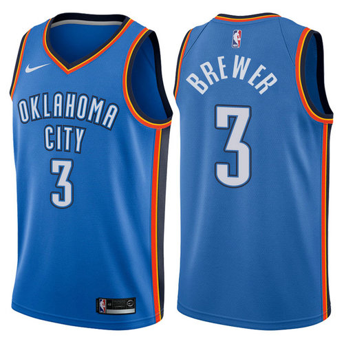 canotta nba corey brewer 3 2017-2018 oklahoma city thunder blu