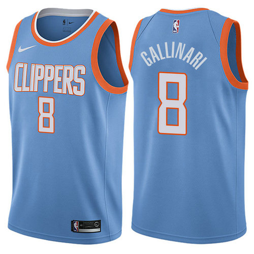 maglia danilo gallinari 8 2017-2018 los angeles clippers blu