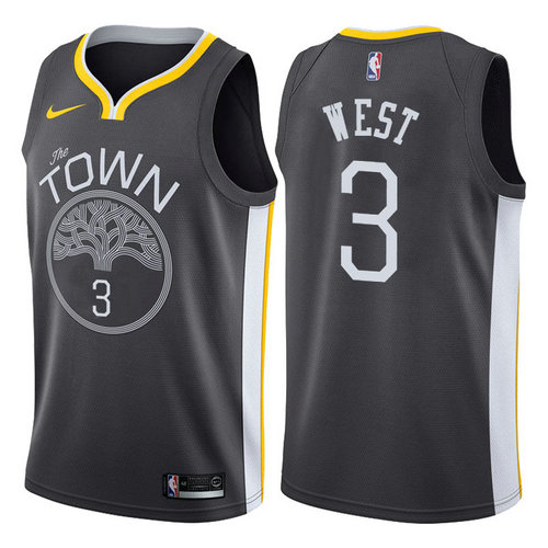 maglia davi west 3 2017-2018 golden state warriors nero
