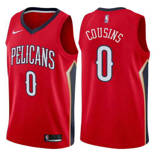 maglia DeMarcus cousins 0 2017-2018 new orleans pelicans rosso