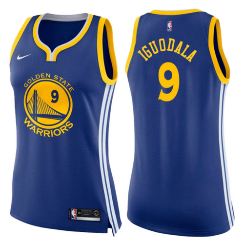 maglie basketa donne andre iguodala 9 2017-2018 golden state warriors blu