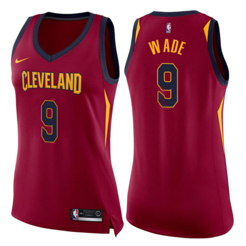 canotte basket donne dwyane wade 9 2017-2018 cleveland cavaliers rosso