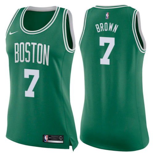 maglie nba donne jaylen brown 7 2017-2018 boston celtics verde