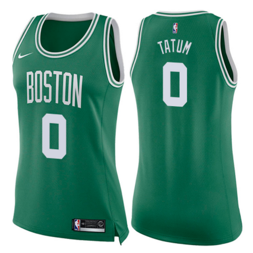 maglie nba donne jayson tatum 0 2017-2018 boston celtics verde