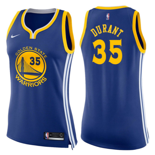 maglie basketa donne kevin durant 35 2017-2018 golden state warriors blu