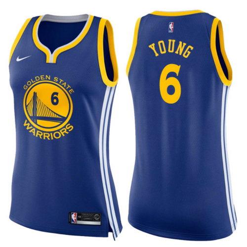 maglie basketa donne nick young 6 2017-2018 golden state warriors blu