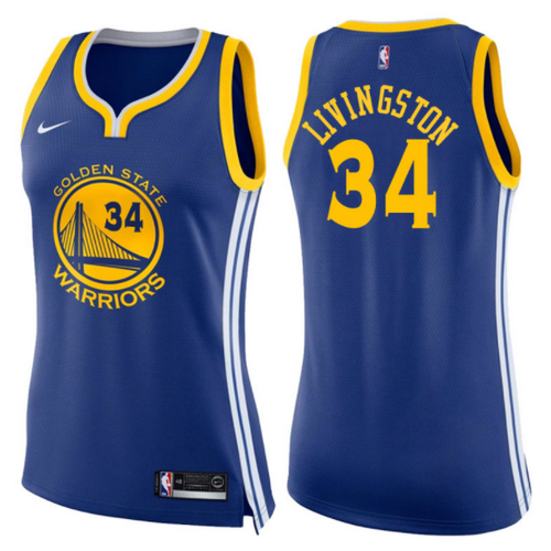 maglie basketa donne shaun livingston 34 2017-2018 golden state warriors blu
