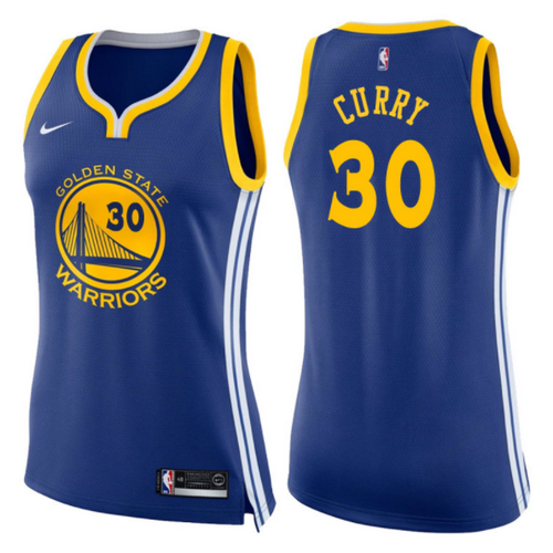 maglie basketa donne stephen curry 30 2017-2018 golden state warriors blu