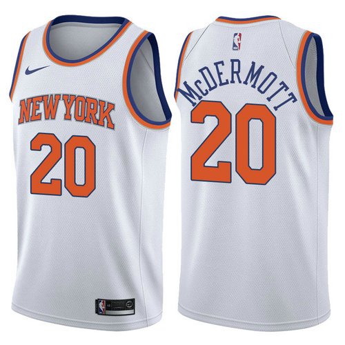 maglia nba doug mcdermott 20 2017-2018 new york knicks bianca