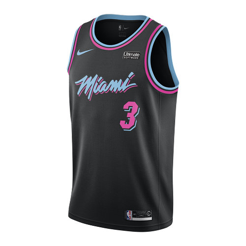 Miami Nero Wade 2019 Divise Dwyane Heat 3 maglia Heat 2018 mv80nyNOw