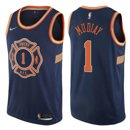 canotta basket emmanuel mudiay 1 2017-2018 new york knicks navy