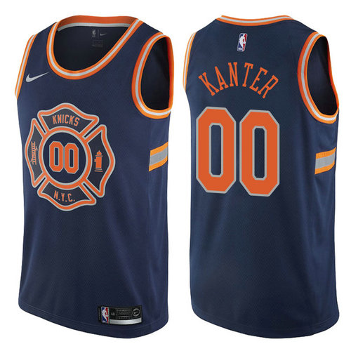 canotta enes kanter 00 2017-2018 new york knicks navy