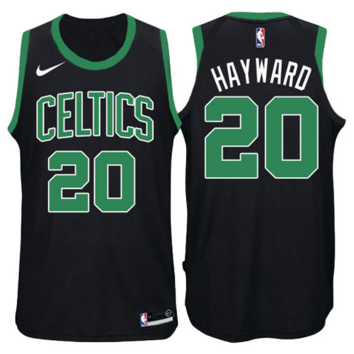 maglia gordon hayward 20 2017-2018 boston celtics nero